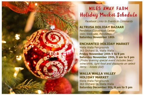 Holiday market schedule 2017