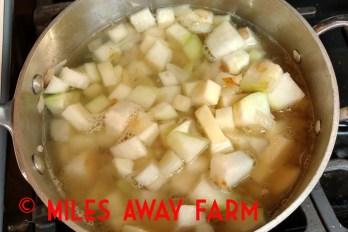 diced kohlrabi for soup
