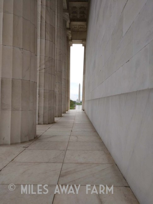 Lincoln Memorial with Washington Memorial in the distance
